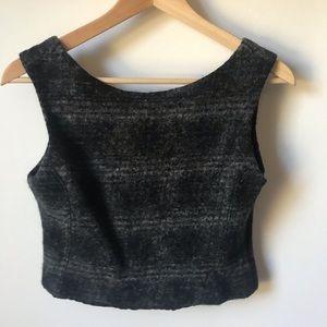 Tops - Quality wool half crop top